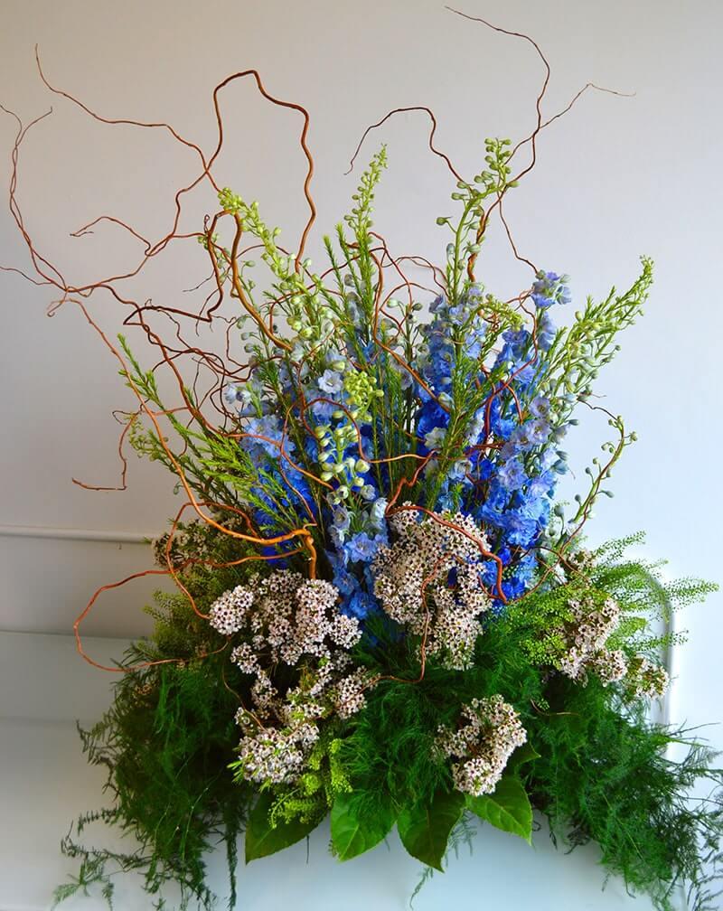 Arrangement de fleurs style champêtre